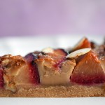 Chai Spiced Plum Custard Tart with a Brown Sugar Crust